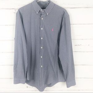Ralph Lauren mens gingham check button down shirt